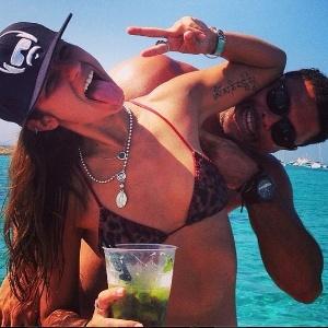 Paula Morais e Ronaldo em Ibiza
