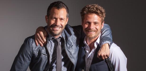 """Malvino Salvador e Augusto Zacchi contracenam na peça """"Chuva Constante"""" - Marcelo Faustini/Divulgação"""