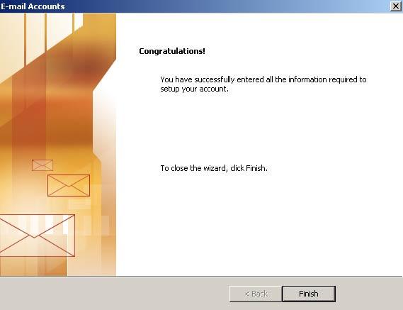 Clique em 'Concluir' (Finish) e pronto! Seu Outlook XP está configurado para receber e enviar seus e-mails UOL via IMAP.
